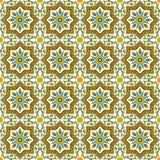 Seamless background image of vintage Islam spiral vine flower star geometry pattern. Stock Photos
