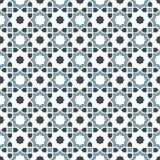 Seamless background image of vintage Islam star geometry kaleidoscope pattern. Royalty Free Stock Images