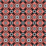 Seamless background image of vintage mosaic geometry pink pattern. Royalty Free Stock Photography