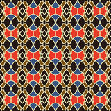 Seamless background image of vintage oval round geometry colorful pattern. Royalty Free Stock Photography