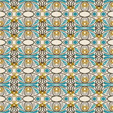 Seamless background image of vintage oval round geometry pattern. Royalty Free Stock Photos