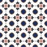 Seamless background image of vintage pink flower leaf geometry kaleidoscope pattern. Royalty Free Stock Photo