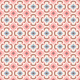 Seamless background image of vintage pink geometry flower shape pattern. Royalty Free Stock Images