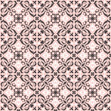 Seamless background image of vintage pink geometry spiral kaleidoscope pattern. Royalty Free Stock Images