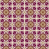 Seamless background image of vintage purple heart star geometry pattern. Stock Image
