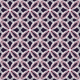 Seamless background image of vintage purple round square cross geometry pattern. Royalty Free Stock Image