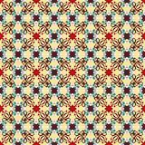 Seamless background image of vintage red flower kaleidoscope pattern. Royalty Free Stock Images