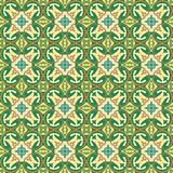 Seamless background image of vintage round geometry kaleidoscope pattern. Stock Photography