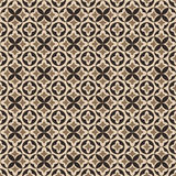 Seamless background image of vintage round leaf geometry pattern. Royalty Free Stock Image