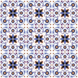 Seamless background image of vintage spiral cross flower kaleidoscope pattern. Royalty Free Stock Photo