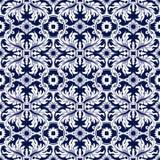 Seamless background image of vintage spiral leaf round flower kaleidoscope pattern. Royalty Free Stock Images