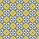 Seamless background image of vintage square cross geometry kaleidoscope pattern. Stock Photo