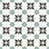 Seamless background image of vintage star flower kaleidoscope pattern. Royalty Free Stock Image