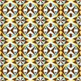 Seamless background image of vintage star triangle geometry kaleidoscope pattern. Royalty Free Stock Photo