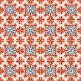 Seamless background image of vintage star white flower kaleidoscope pattern. Stock Images