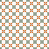 Seamless background image of vintage vintage green orange flower pattern. Background image of vintage vintage green orange flower pattern Stock Photography