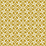 Seamless background image of vintage yellow flower spiral cross lace pattern. Stock Photos