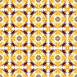 Seamless background image of vintage yellow flower vine pattern. Stock Photography