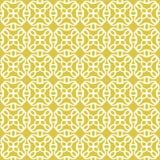 Seamless background image of vintage yellow round kaleidoscope pattern. Stock Photography