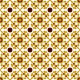 Seamless background image of vintage yellow star kaleidoscope pattern. Royalty Free Stock Photography