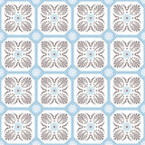 Seamless background image of white fan shape cross flower pattern. Royalty Free Stock Photography