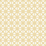 Seamless background image of yellow cross chain flower geometry pattern. Royalty Free Stock Photography