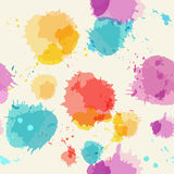Seamless background with imitation watercolor stains. Vector illustration Royalty Free Stock Photography