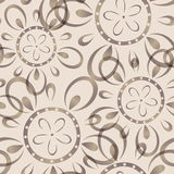 Seamless background with imprinted flower pattern Stock Images