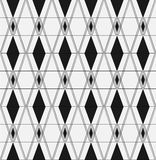 Seamless background. Infinitely repeating pattern of rhombus and squares on a monochrome background. Raster illustration Stock Illustration