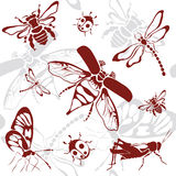 Seamless background insects. Vector illustration stock illustration