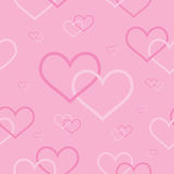Seamless background with intertwined hearts Royalty Free Stock Image
