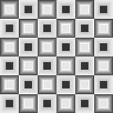 Seamless background with inverse square shapes in shades of gray  Royalty Free Stock Photography