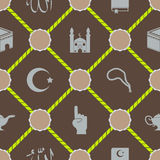 Seamless background with islamic icons Royalty Free Stock Photos