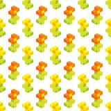 Seamless background of isometric flowers. Stock Image