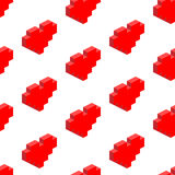 Seamless background of isometric hearts. Stock Photos