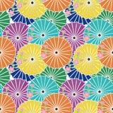 Seamless background with japanese umbrellas royalty free stock photos