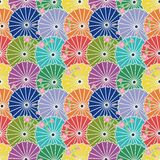 Seamless background with japanese umbrellas Royalty Free Stock Images