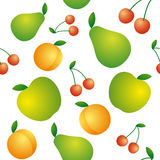 Seamless background of juicy fruits Stock Photos