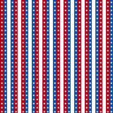 Seamless Background for July 4th. Stock Photography