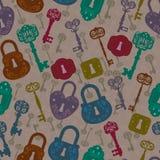 Old keys and locks Stock Photo
