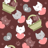 Seamless background with kittens Stock Image