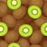 Seamless background with kiwi fruits. Vector illustration. Royalty Free Stock Photo