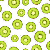 Seamless background with kiwi slices. Vector illustration. Royalty Free Stock Photo
