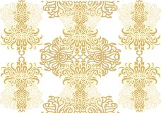 Decorative wavy seamless pattern Stock Photography