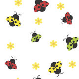 Seamless background with ladybirds Royalty Free Stock Photos