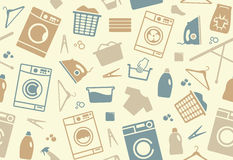 Seamless background of a laundry. Seamless background on a theme of washing and care of clothes Royalty Free Stock Image