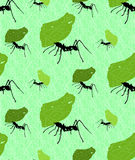 Seamless background with leaf cutter ants Stock Photos