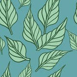 Seamless background with leafs. Vector illustration/ Eps 8. Seamless background with leafs. Eco print. Vector illustration/ Eps 8 stock illustration
