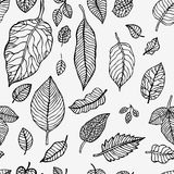 Seamless background with leaves Stock Images
