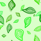 Seamless background with leaves Royalty Free Stock Photo